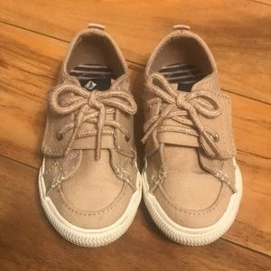 Cute Toddler Girl Sperry shoes size 8